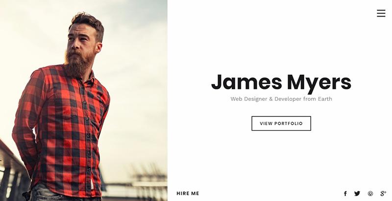Myers themes wordpress creer site web cv entreprise agence pme