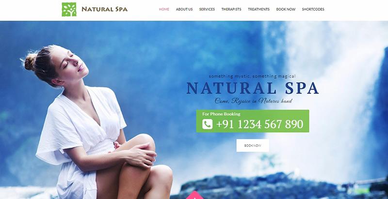 Natural spa themes wordpress creer site internet salon beaute spa coiffure