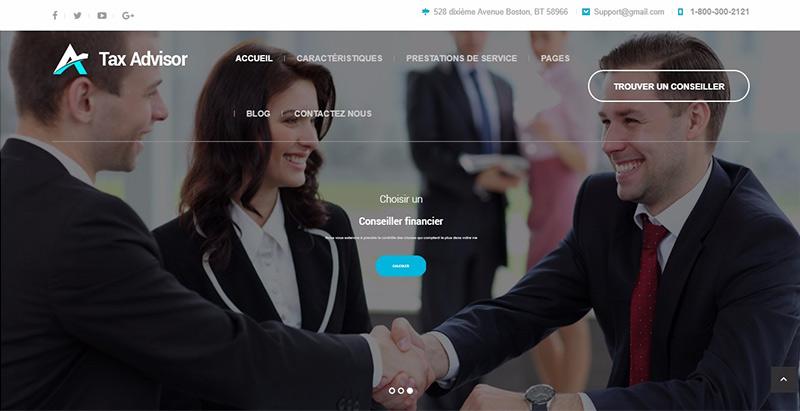 Tax Advisor Themes Wordpress Creer Site Internet Assurance Agence Entreprise