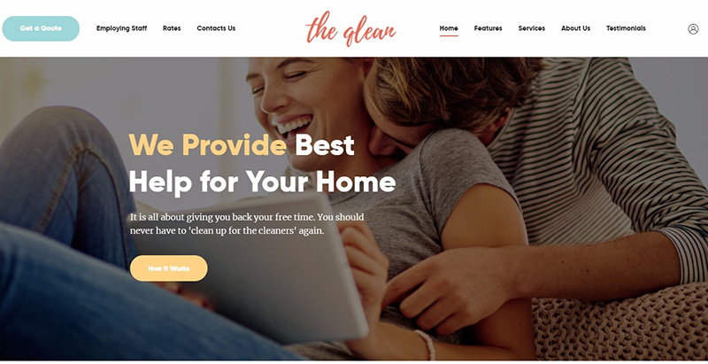 The qlean themes wordpress create website business agency
