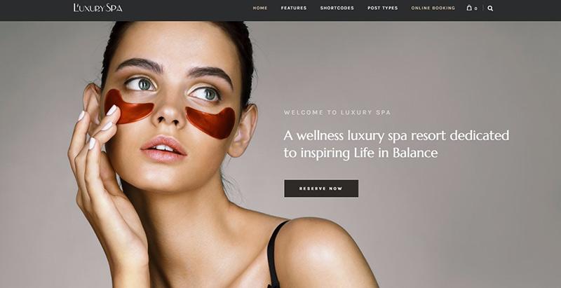Luxury spa themes wordpress creer site internet salon beaute spa coiffure
