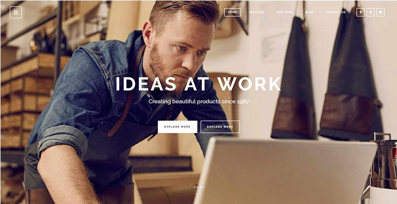 Bridge themes wordpress creer site internet pme entreprise startup
