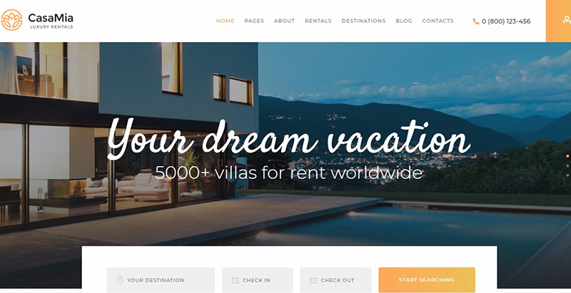 Casamia themes wordpress creer site web agence immobiliere