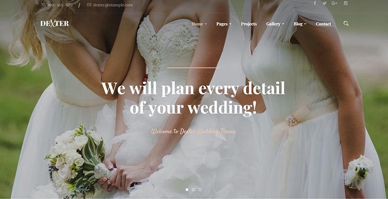 Dexter themes wordpress creer site internet fiançailles mariage