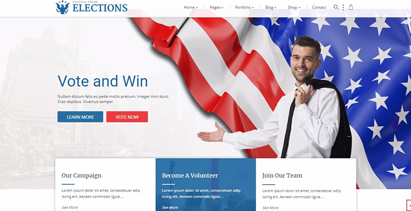 Elections Themes Wordpress Creer Site Internet Parti Politique