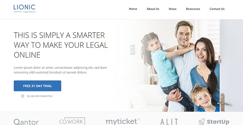 Finance legal themes wordpress creer site internet entreprise business