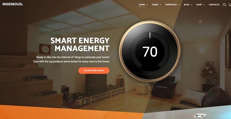 Ingenious themes wordpress creer site web entreprise technologique