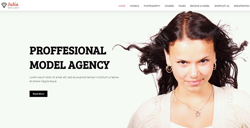 Julia themes wordpress creer site web top model mode