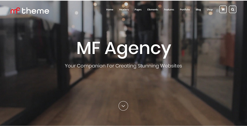 Mf themes wordpress creer site internet pme entreprise startup