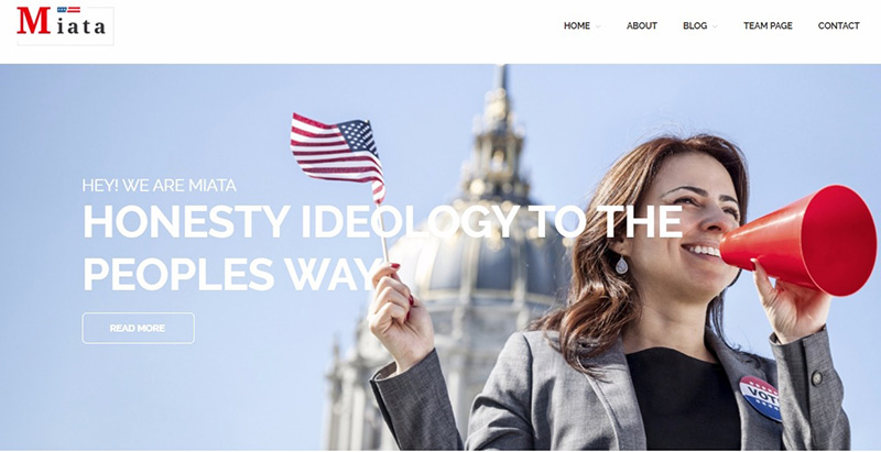 Miata themes wordpress creer site internet parti politique