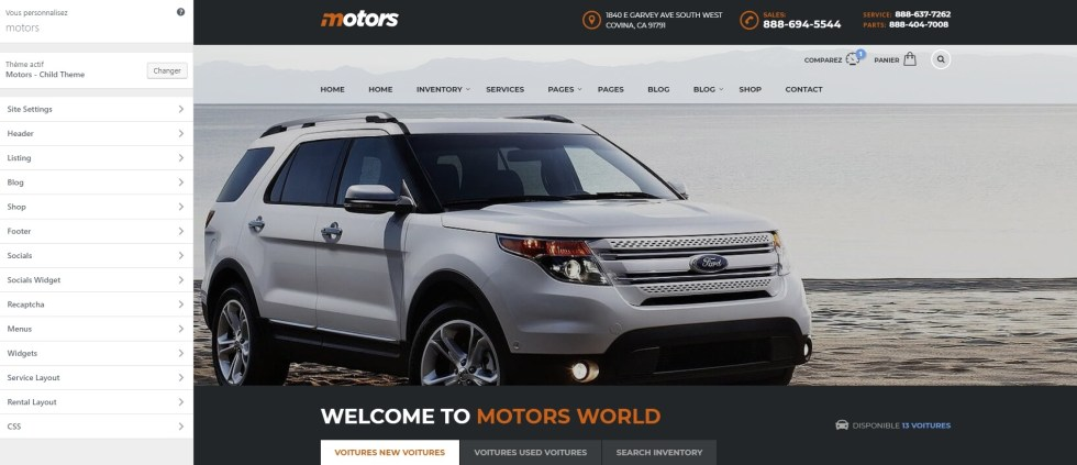 Motors personnalisation 1
