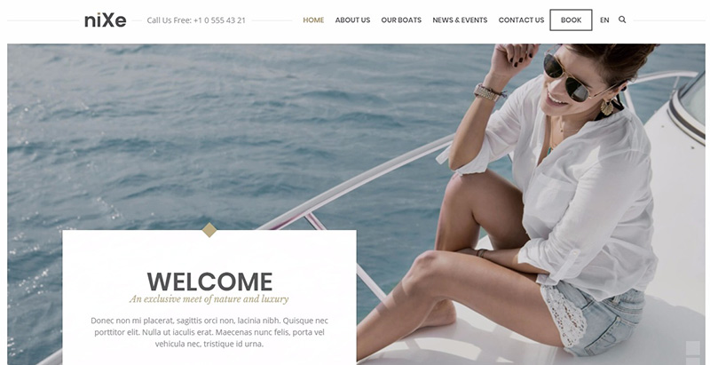 Nixe Themen WordPress erstellen Website Internet Spa Salon Massage