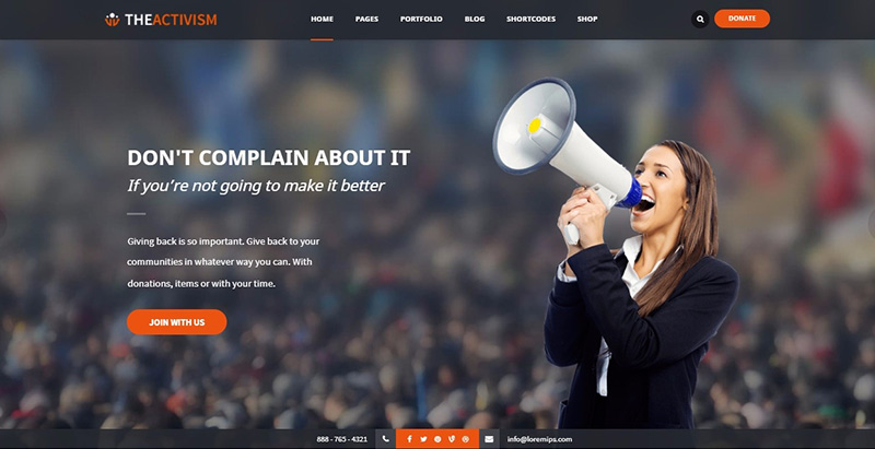 Theactivism themes wordpress creer site internet parti politique