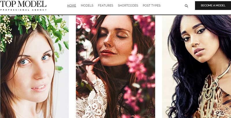 Top model themes wordpress creer site web top model mode