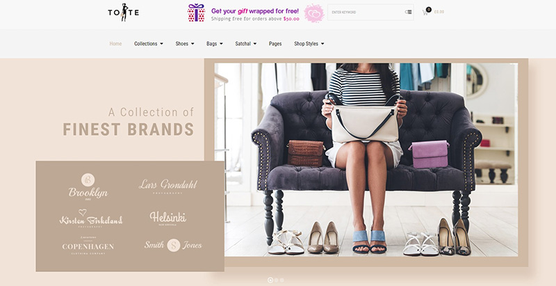 Tote themes wordpress creer site ecommerce mode montre