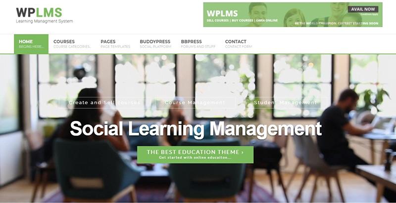 Wplms themes wordpress creer site internet educatif lms