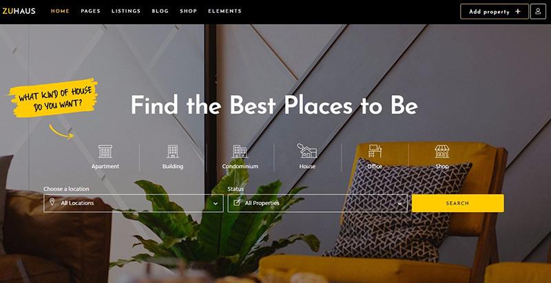 Zuhaus Themes Wordpress Criar site de agência imobiliária
