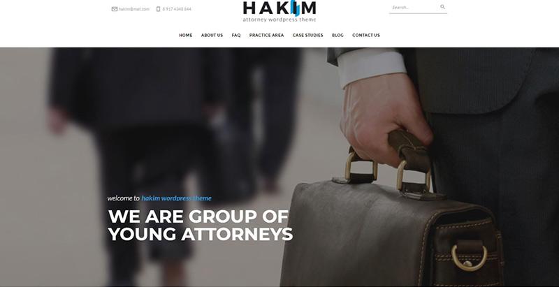Hakim themes wordpress creer site internet avocat justice procureur