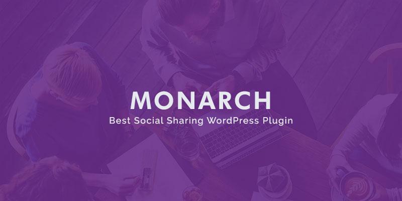 Monarch best social sharing wordpress plugin