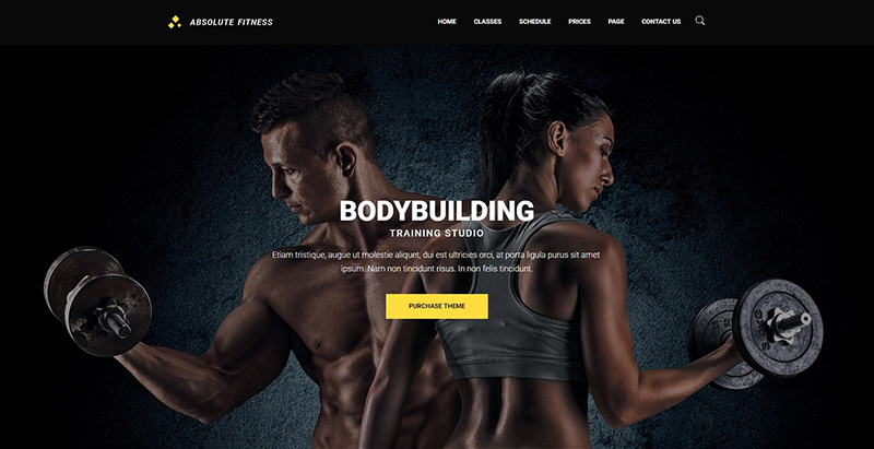 Absolute fitness themes wordpress creer site web salle fitness