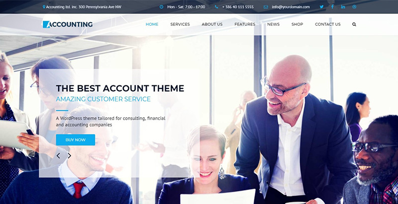 Accounting themes wordpress creer site web cabinet expertise comptable
