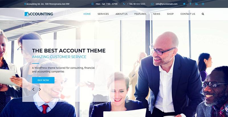 Accounting - meilleurs thèmes WordPress d'expert comptable