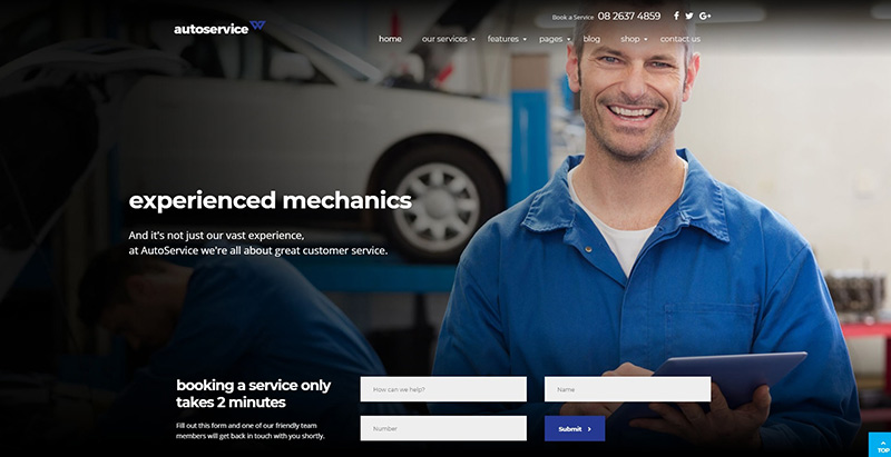 10 th mes wordpress pour cr er un site web de garage for Condition pour ouvrir un garage automobile