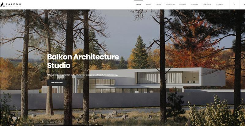 10 WordPress Themes to Create an Architect Website | BlogPasCher