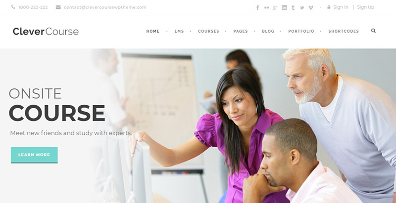 Clever course themes wordpress creer site internet elearning education formation