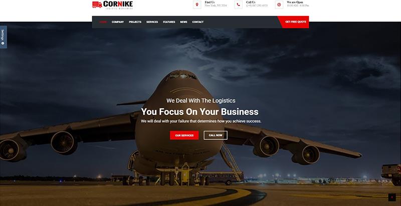 Cornike themes wordpress creer site internet entreprise transports