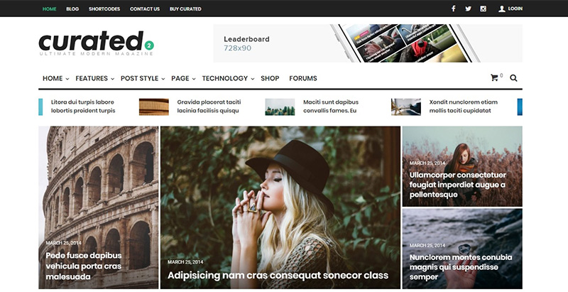 Curated themes wordpress creer site internet communautaire forum bbpress