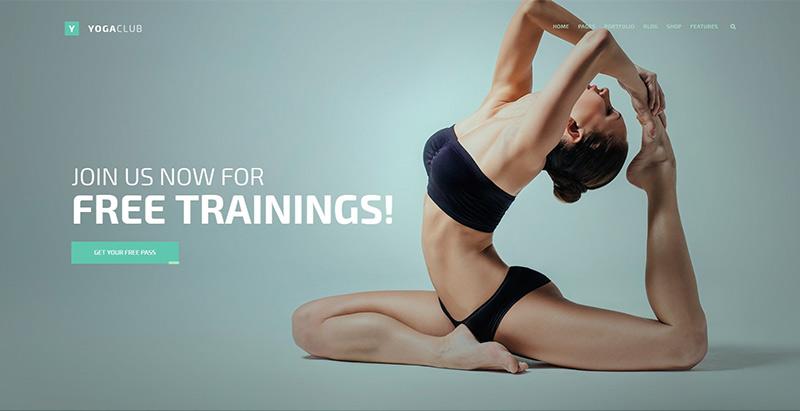 Темы для бойцовского клуба WordPress создать сайт йога фитнес спорт