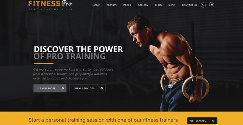 Fitnesspro themes wordpress creer site web salle fitness