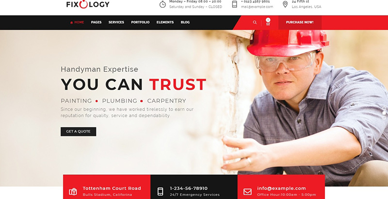 Fixology themes wordpress creer site web entreprise construction business