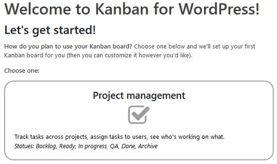 Kanban boards for wordpress plugin kanban board types