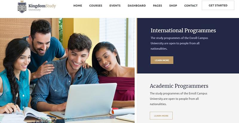 Kingdom study themes wordpress creer site internet elearning education formation