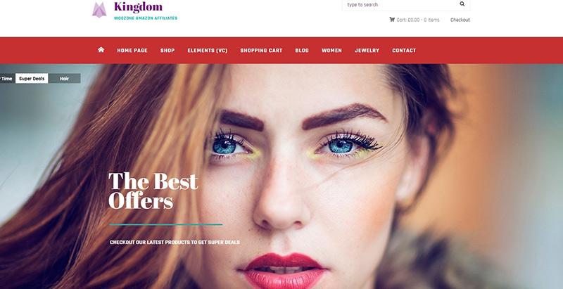 Kingdom themes wordpress creer boutique ligne ecommerce achat vente en ligne
