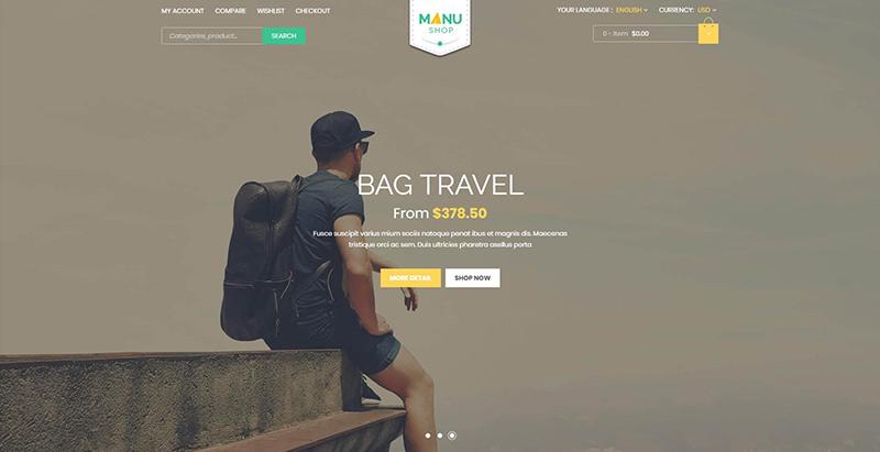 Manu themes wordpress creer site ecommerce boutique en ligne