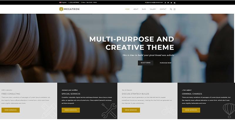 Temas de 10 WordPress para crear un sitio web de abogados | BlogPasCher