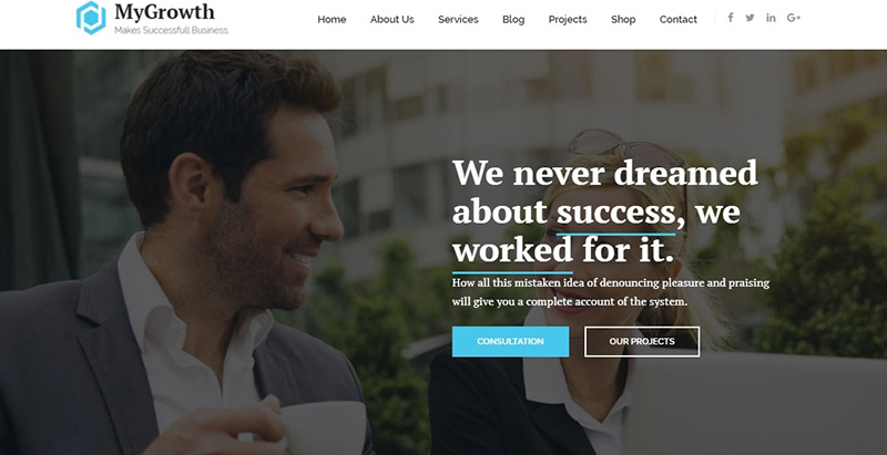 Mygrowth- meilleurs thèmes WordPress d'expert comptable