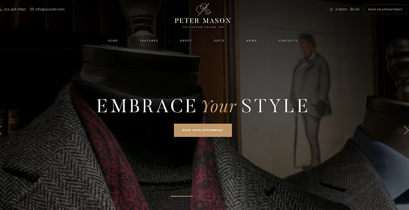 Peter mason themes wordpress creer site ecommerce boutique en ligne
