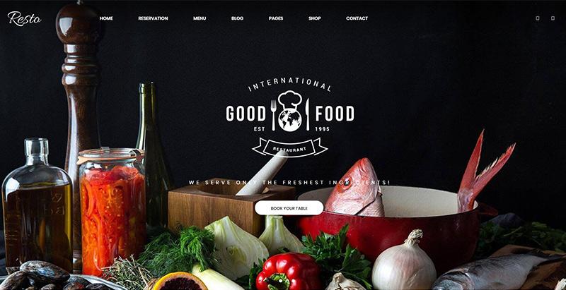 créer un site web de restaurant - Resto