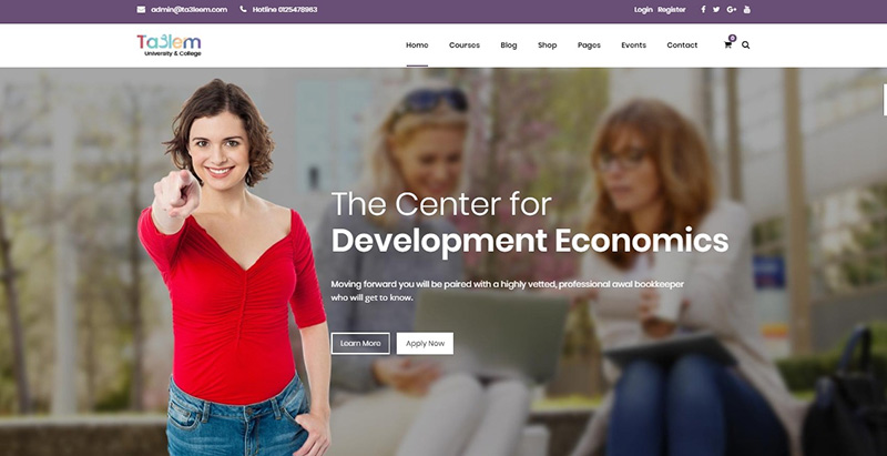 Taalem themes wordpress creer site internet elearning education formation