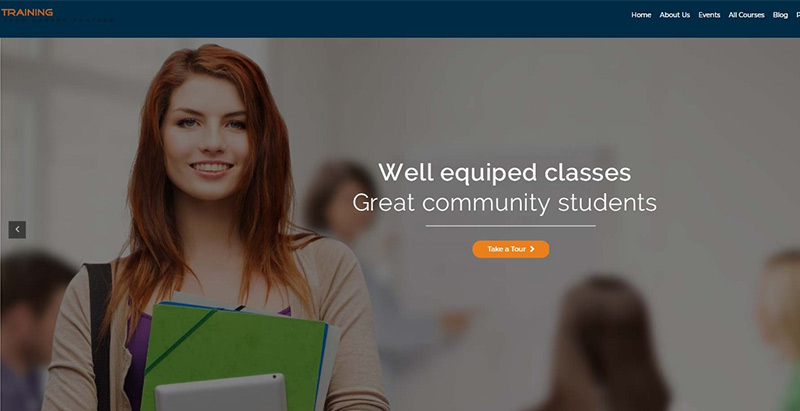 Training institute themes wordpress creer site internet elearning education formation