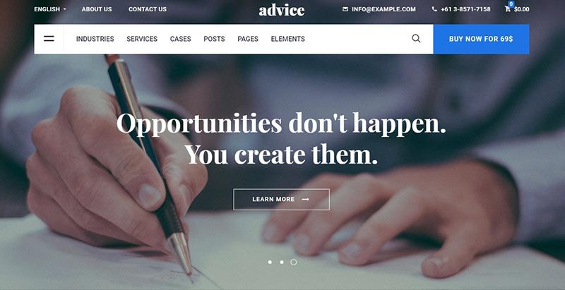 Advice-meilleurs thèmes WordPress de compagnie d'assurance