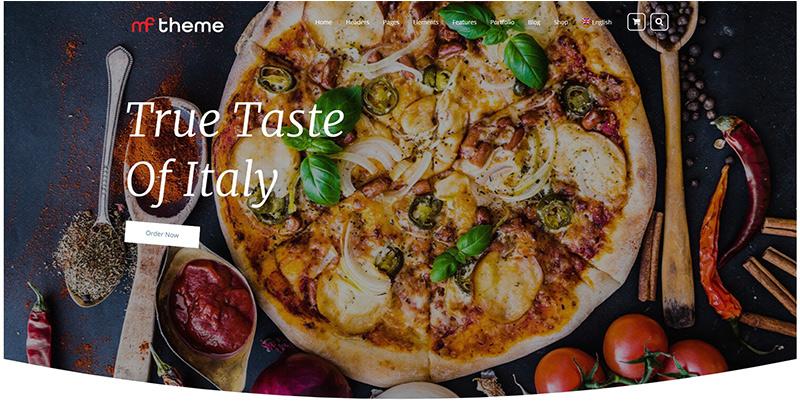 thèmes WordPress pour créer un blog de cuisine - mf