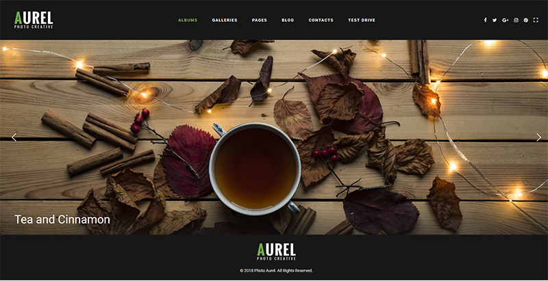 Aurel themes wordpress creer site internet agence photographe