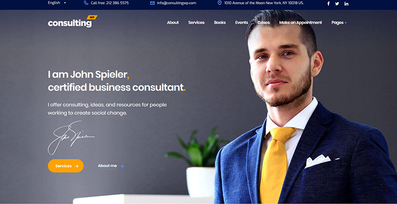 Consulting themes wordpress creer site internet societe conseil cabinet consulting