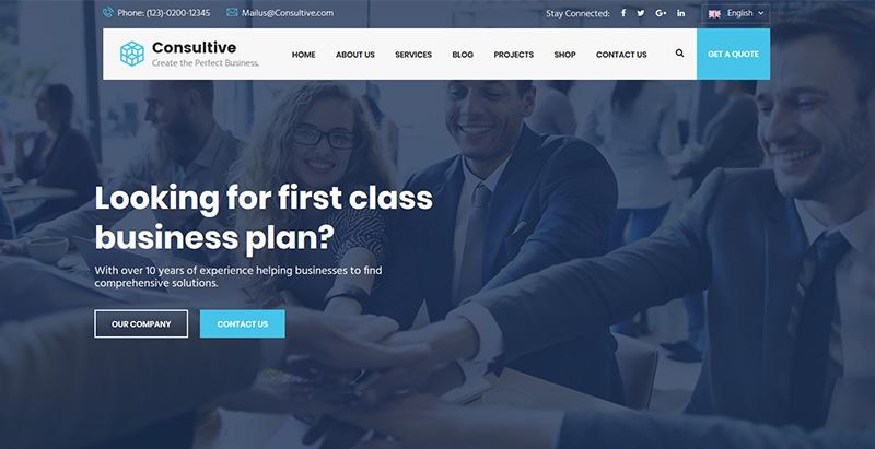 Temas de WordPress para crear un sitio web para una empresa ...