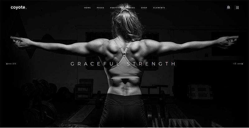 Coyote themes wordpress creer site web club fitness gym yoga